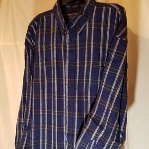 Classic Coleman Outdoors Blue Plaid Shirt
